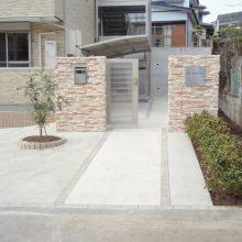 集合住宅の門まわりと塀を施工 NO.5の施工写真メイン