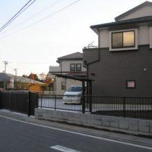 ワイドなゲートもしっくりと NO.24の施工写真3