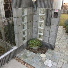 アクセントのガラスブロック+アプローチ NO.77の施工写真メイン