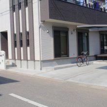 シンプルな真っ白の塀 NO.85の施工写真1