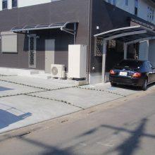 スタンプコンクリートの庭とカーポート NO.86の施工写真2