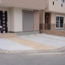 スタンプコンクリートのアプローチ NO.88の施工写真0