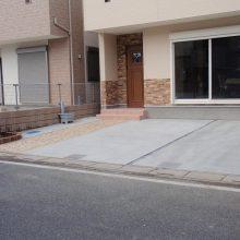 スタンプコンクリートでのアプローチでおしゃれに NO.87の施工写真0