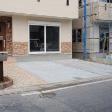 スタンプコンクリートでのアプローチでおしゃれに NO.87の施工写真1