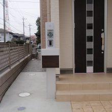 スタンプコンクリートのアプローチ NO.88の施工写真1