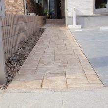 スタンプコンクリートのアプローチ NO.93の施工写真0