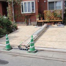 お庭のエクステリアはスタンプコンクリート NO.96の施工写真0