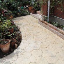お庭のエクステリアはスタンプコンクリート NO.96の施工写真
