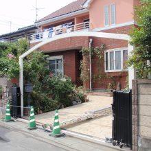 お庭のエクステリアはスタンプコンクリート NO.96の施工写真1