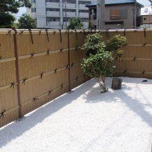 竹垣フェンスで和風な雰囲気 NO.103の施工写真1