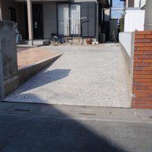 駐車場をスタンプコンクリートで NO.107の施工写真0