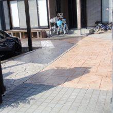 駐車場をスタンプコンクリートで NO.107の施工写真2