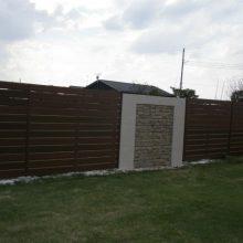 おしゃれなフェンスでアジアン風な塀に NO.118の施工写真0