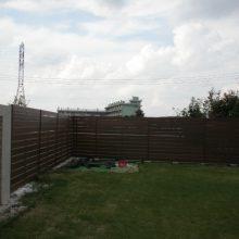 おしゃれなフェンスでアジアン風な塀に NO.118の施工写真1