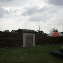 おしゃれなフェンスでアジアン風な塀に NO.118の施工写真2