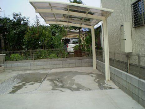 門塀のタイルと石貼りのアプローチのマッチング NO.156の施工後写真3