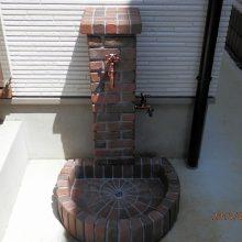 タイルが庭石のアクセント NO.160の施工写真2