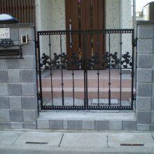 格子模様のブロック NO.208の施工写真1