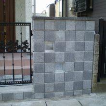 格子模様のブロック NO.208の施工写真2