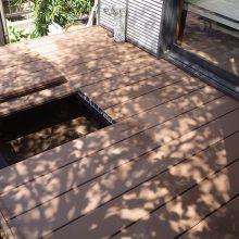 木漏れ陽がキレイなウッドデッキで癒される NO.221の施工写真1