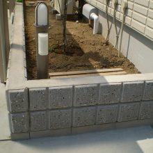 駐車場周り一式、モダンなセミクローズ外構 NO.224の施工写真0