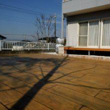 木目調のスタンプコンクリートで自然な感じ NO.251の施工写真3