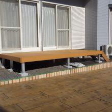 木目調のスタンプコンクリートで自然な感じ NO.251の施工写真1