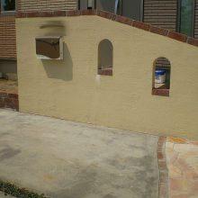 欧風アプローチと門塀でオシャレな空間に NO.274の施工写真0