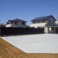 広い敷地にカーポートとコンクリート NO.292の施工写真0