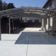 広い敷地にカーポートとコンクリート NO.292の施工写真2