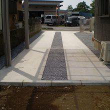 石貼りのアプローチでオシャレに NO.297の施工写真0