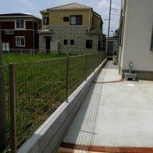 曲線のスタンプコンクリート NO.316の施工写真2