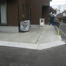 駐車場を土間コンクリート嵩上げ NO.354の施工写真1