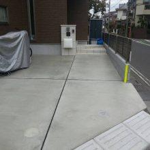 駐車場を土間コンクリート嵩上げ NO.354の施工写真0