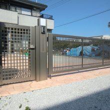 スタンプコンクリートと跳ね上げ門扉 NO.347の施工写真0