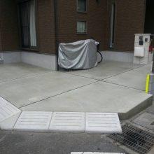 駐車場を土間コンクリート嵩上げ NO.354の施工写真2