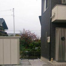 ウッドデッキと物置は建物カラー NO.373の施工写真1