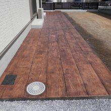 木調スタンプコンクリートの存在感 NO.424の施工写真