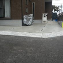 駐車場を土間コンクリート嵩上げ NO.354の施工写真