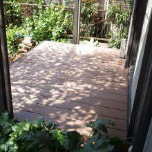 木漏れ陽がキレイなウッドデッキで癒される NO.221の施工写真