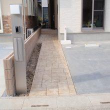 スタンプコンクリートのアプローチ NO.93の施工写真