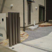 石貼りのアプローチでオシャレに NO.297の施工写真