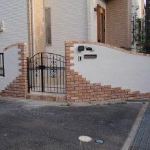 レンガのアーチが美しい門塀 NO.106の施工写真メイン