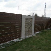 おしゃれなフェンスでアジアン風な塀に NO.118の施工写真