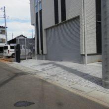 黒いクールな門塀 NO.459の施工写真1