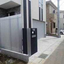黒いクールな門塀 NO.459の施工写真2