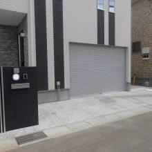 黒いクールな門塀 NO.459の施工写真