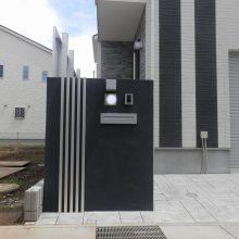 黒いクールな門塀 NO.459の施工写真0