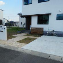 外壁に合わせた門塀 NO.462の施工写真0