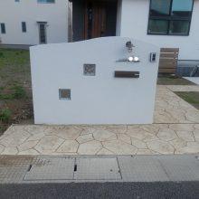 外壁に合わせた門塀 NO.462の施工写真